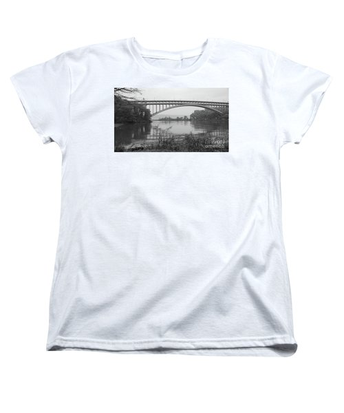 Women's T-Shirt (Standard Cut) featuring the photograph Henry Hudson Bridge  by Cole Thompson