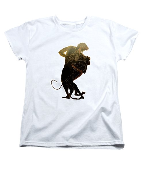 Hercules And The Nemean Lion Women's T-Shirt (Standard Cut) by Tracey Harrington-Simpson