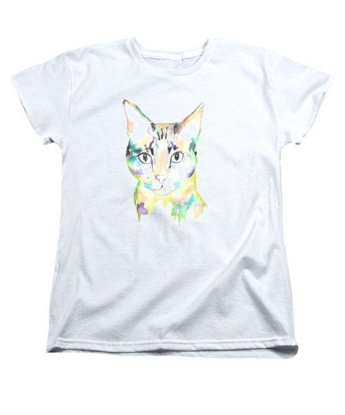 Here Kitty T-shirt Women's T-Shirt (Standard Cut) by Herb Strobino
