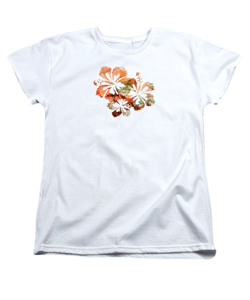 Hibiscus Flowers Women's T-Shirt (Standard Cut) by Art Spectrum
