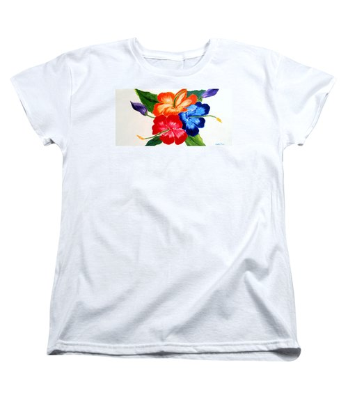 Women's T-Shirt (Standard Cut) featuring the painting Hibiscus by Jamie Frier