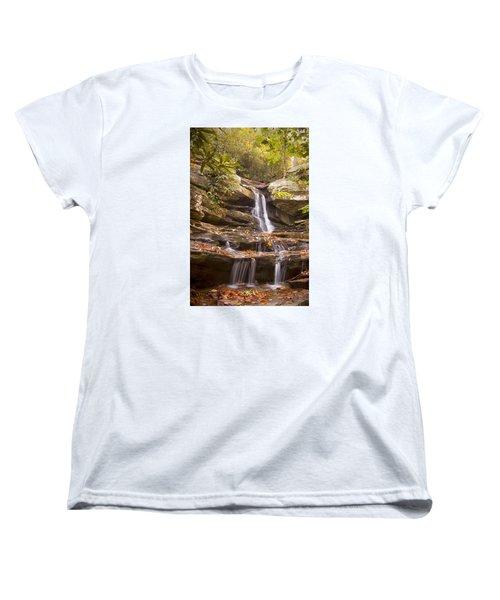 Hidden Falls Of Danbury, Nc Women's T-Shirt (Standard Cut) by Bob Decker