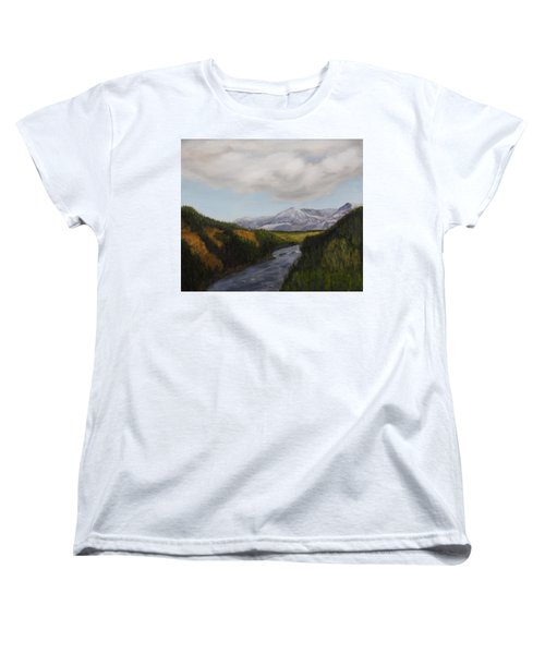 Hidden Mountains Women's T-Shirt (Standard Cut) by Alan Mager