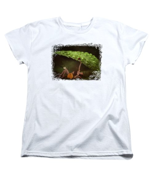 Hiding From The Storm Women's T-Shirt (Standard Cut) by Terry Fleckney