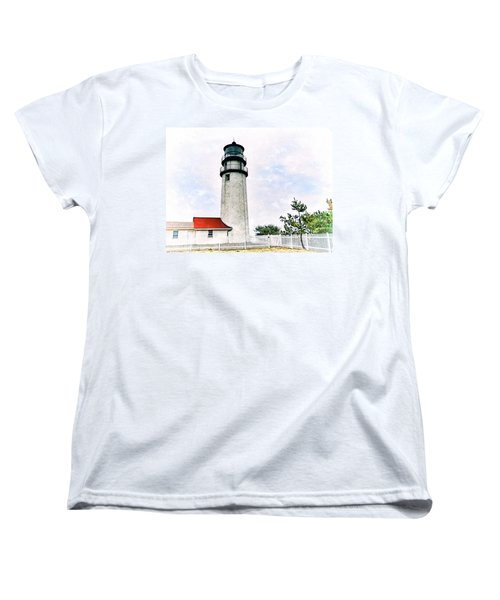 Women's T-Shirt (Standard Cut) featuring the photograph Highland Lighthouse Cape Cod by Marianne Campolongo