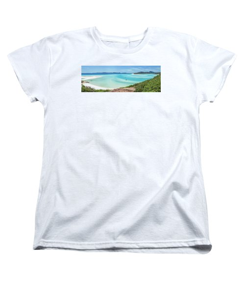 Women's T-Shirt (Standard Cut) featuring the photograph Hill Inlet Lookout by Az Jackson
