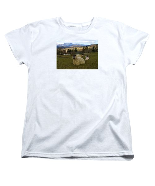 Hill Sheep Women's T-Shirt (Standard Cut) by RKAB Works