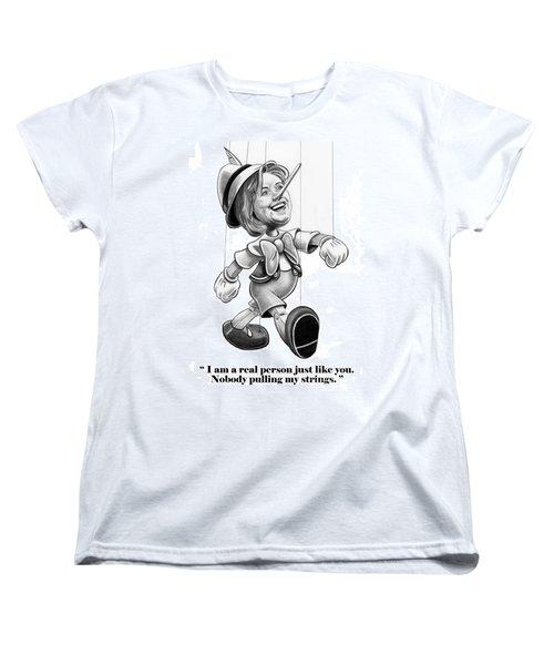 Hillary Puppet Women's T-Shirt (Standard Cut) by Murphy Elliott