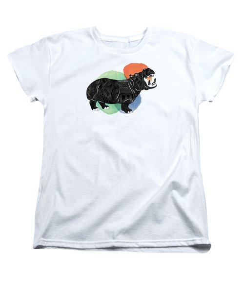 Hippo Women's T-Shirt (Standard Cut) by Serkes Panda