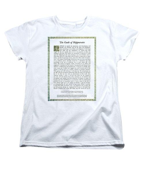 Hippocratic Oath, 1938 Women's T-Shirt (Standard Cut) by Science Source