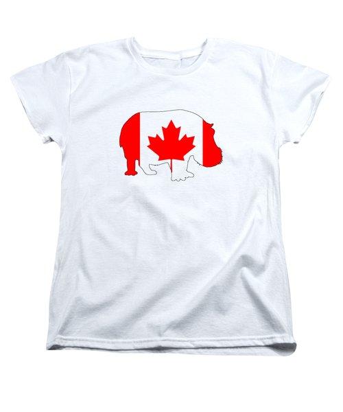 Hippopotamus Canada Women's T-Shirt (Standard Cut) by Mordax Furittus