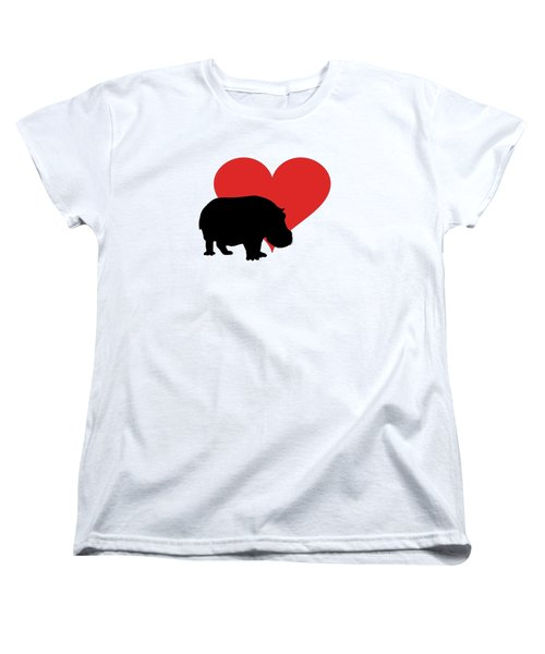 Hippopotamus Women's T-Shirt (Standard Cut) by Mordax Furittus