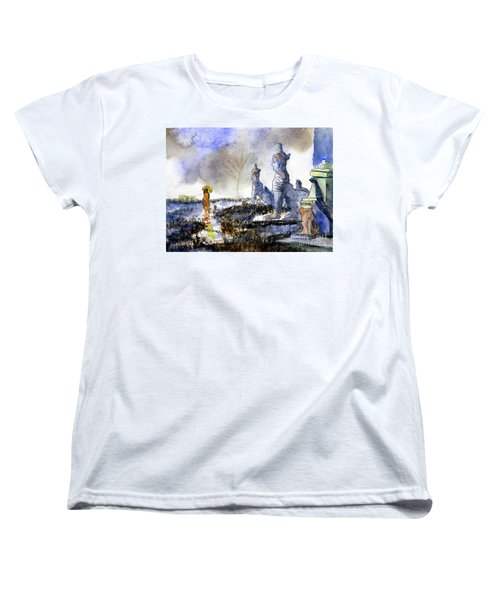 His And Hers Temples Women's T-Shirt (Standard Cut) by Randy Sprout
