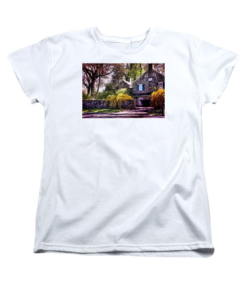 Women's T-Shirt (Standard Cut) featuring the photograph Historic 1889 Home by Polly Peacock
