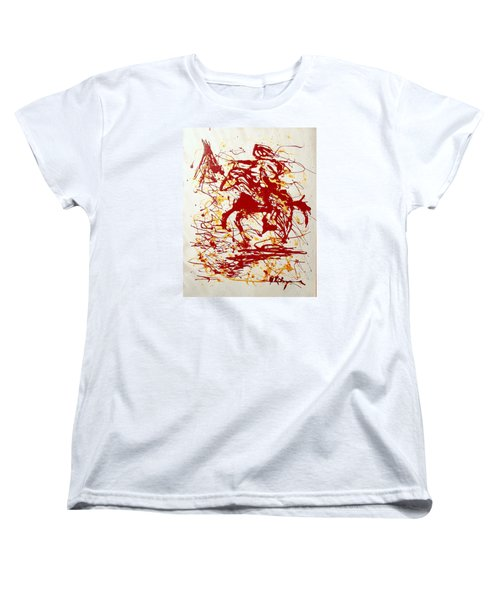 Women's T-Shirt (Standard Cut) featuring the painting History In Blood by J R Seymour