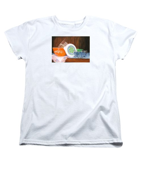 Women's T-Shirt (Standard Cut) featuring the painting History Of Pyrex by Lynne Reichhart