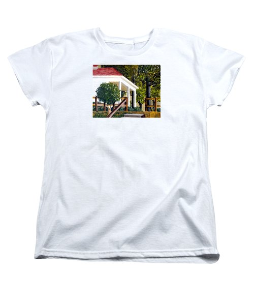 Women's T-Shirt (Standard Cut) featuring the painting History Still Stands by Jim Phillips