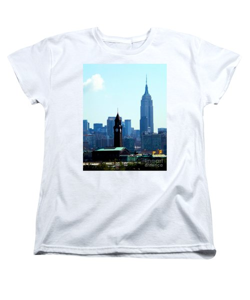 Hoboken And New York Women's T-Shirt (Standard Cut) by James Aiken