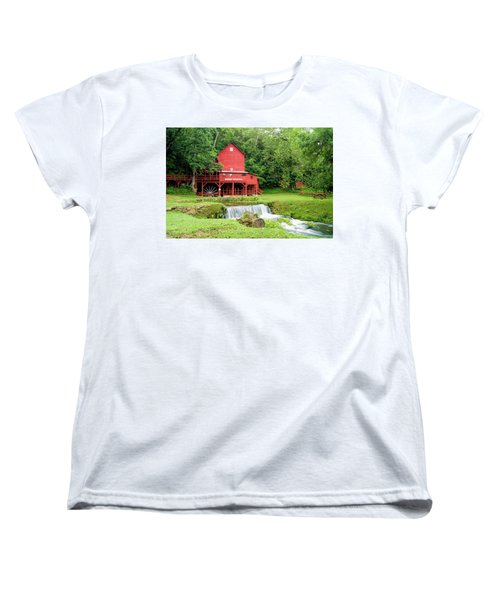 Women's T-Shirt (Standard Cut) featuring the photograph Hodgson Water Mill by Cricket Hackmann