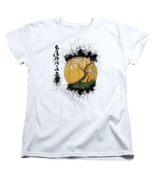 Women's T-Shirt (Standard Cut) featuring the painting Hoitsu Tesshu Splatter  by Robert G Kernodle