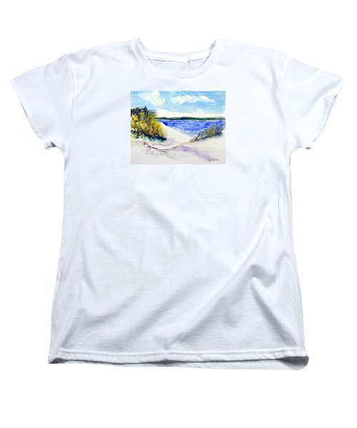 Women's T-Shirt (Standard Cut) featuring the painting Hole In The Cove by Joan Hartenstein