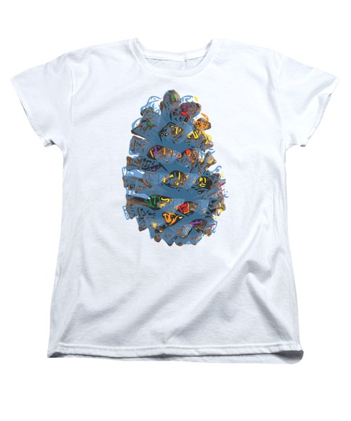 Holiday Blue Cone Women's T-Shirt (Standard Cut) by Stan  Magnan