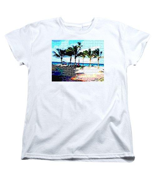 Hollywood Beach Fla Digital Women's T-Shirt (Standard Cut) by Dick Sauer