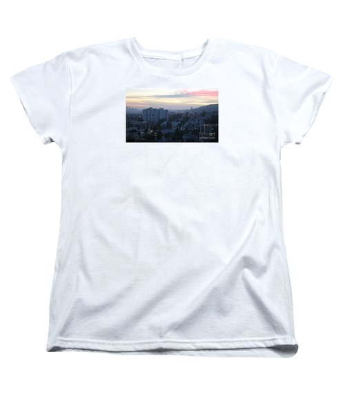 Women's T-Shirt (Standard Cut) featuring the photograph Hollywood Sunset by Cheryl Del Toro