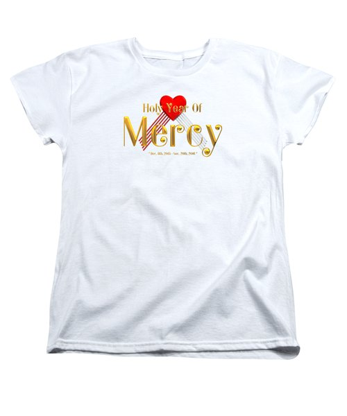 Holy Year Of Mercy Women's T-Shirt (Standard Cut) by Rose Santuci-Sofranko
