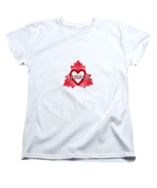 Home Sweet Canada Women's T-Shirt (Standard Cut) by Kathleen Sartoris
