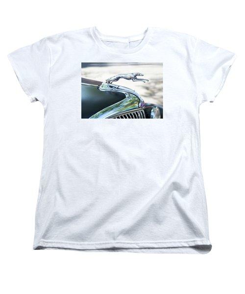 Hood Ornament Ford Women's T-Shirt (Standard Cut) by Theresa Tahara
