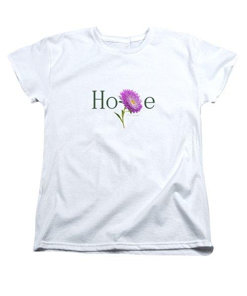 Hope Shirt Women's T-Shirt (Standard Cut) by Ann Lauwers