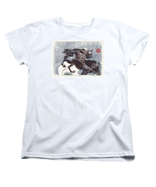 Horse And Red Sun Women's T-Shirt (Standard Cut) by Mary Armstrong