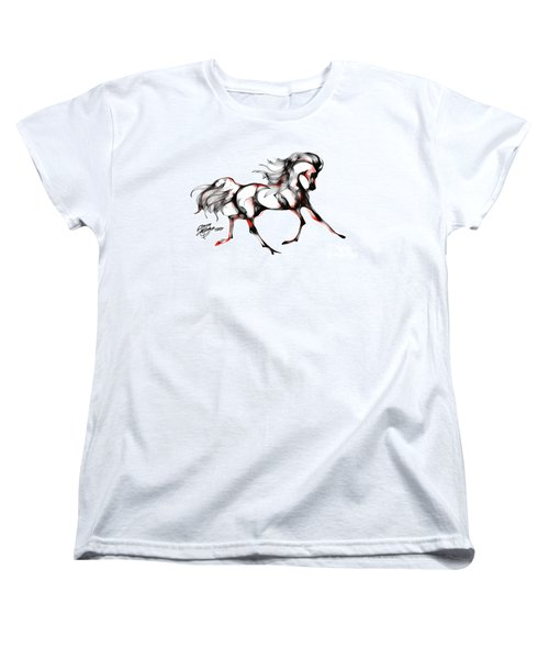 Horse In Extended Trot Women's T-Shirt (Standard Cut) by Stacey Mayer