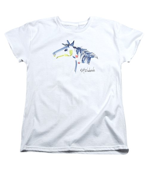 Horse Of A Different Color Women's T-Shirt (Standard Cut) by Kathleen McElwaine