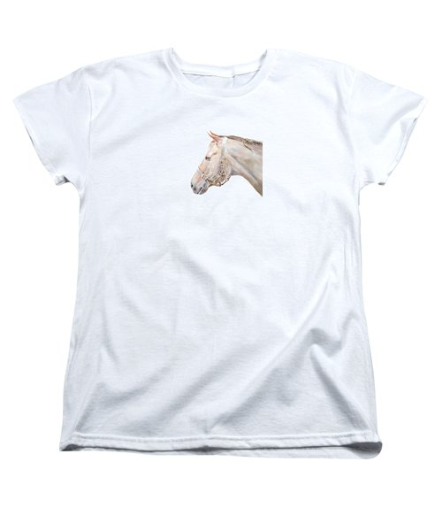 Women's T-Shirt (Standard Cut) featuring the painting Horse Portrait I by Elizabeth Lock