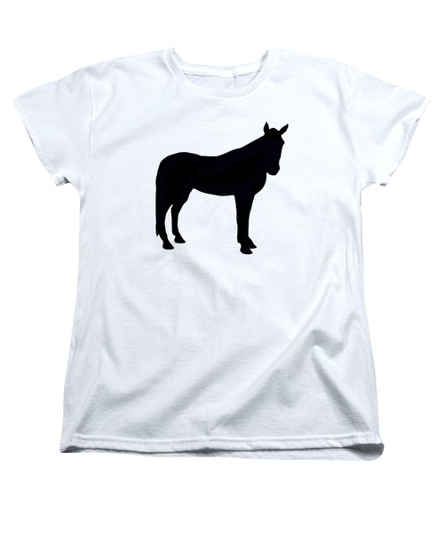 Horse Silhouette  Women's T-Shirt (Standard Cut) by Linsey Williams