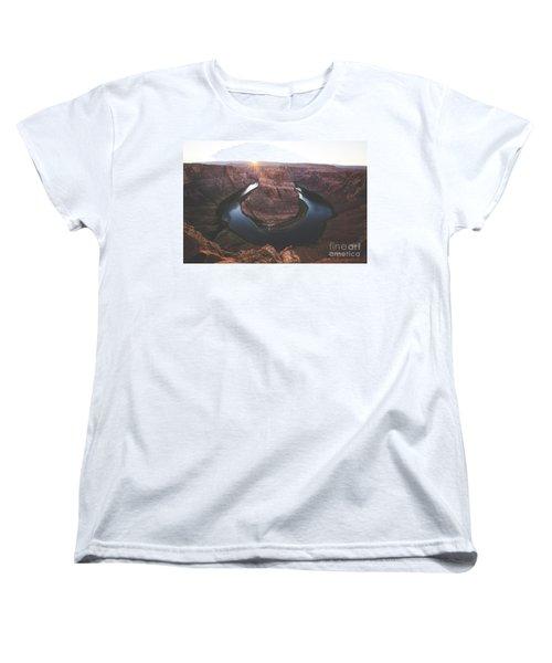 Horseshoe Bend Sunset Women's T-Shirt (Standard Cut) by JR Photography