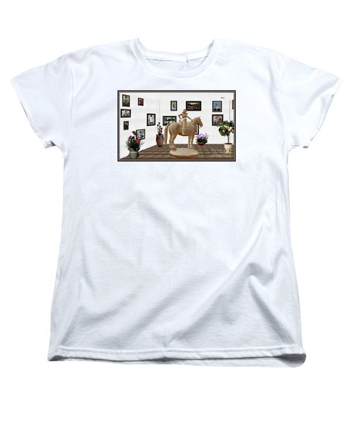 Virtual Exhibition -statue Of Horsewoman 12 Women's T-Shirt (Standard Cut) by Pemaro