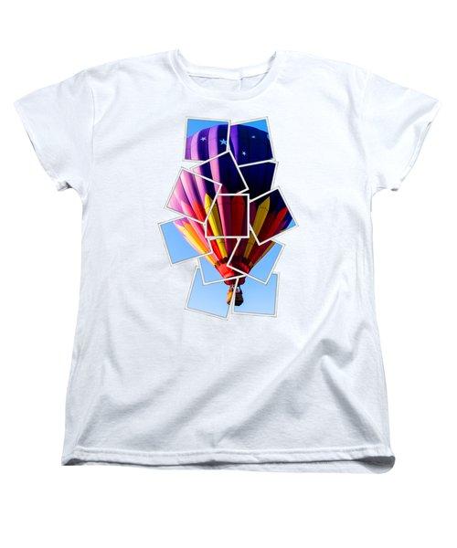 Hot Air Ballooning Tee Women's T-Shirt (Standard Cut) by Edward Fielding