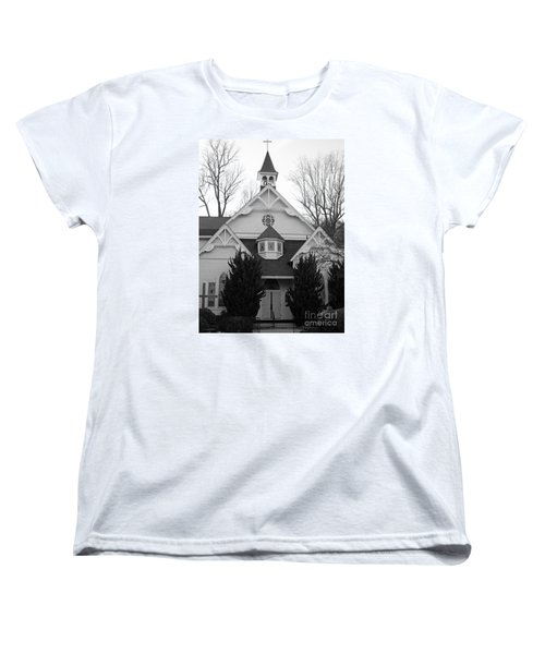 Women's T-Shirt (Standard Cut) featuring the photograph House Of Prayer by Emmy Marie Vickers