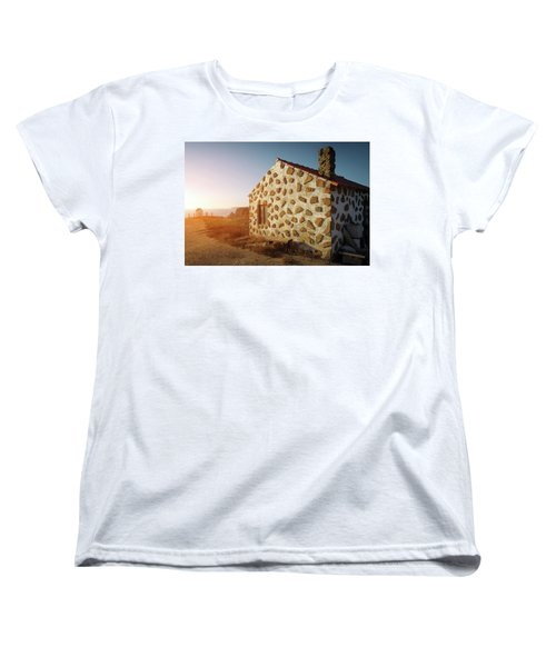 Women's T-Shirt (Standard Cut) featuring the photograph House On The Cliff by Carlos Caetano