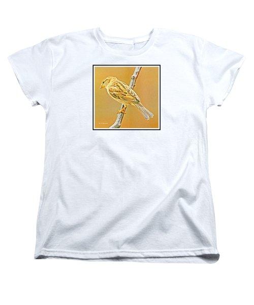 Women's T-Shirt (Standard Cut) featuring the photograph House Sparrow by A Gurmankin