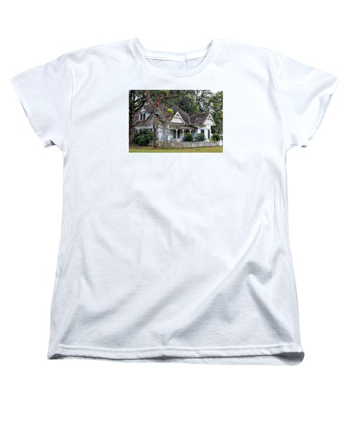 House With A Picket Fence Women's T-Shirt (Standard Cut) by Lynn Jordan