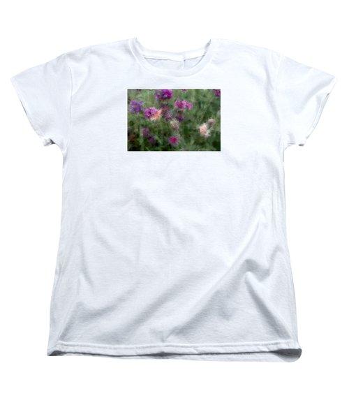 How I Love Flowers Women's T-Shirt (Standard Cut) by The Art Of Marilyn Ridoutt-Greene