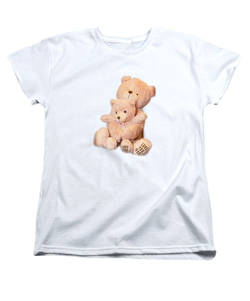 Hugging Bears Cut Out Women's T-Shirt (Standard Cut) by Linda Phelps