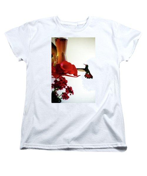Hummingbird In Tulua, Colombia Women's T-Shirt (Standard Cut) by Al Bourassa
