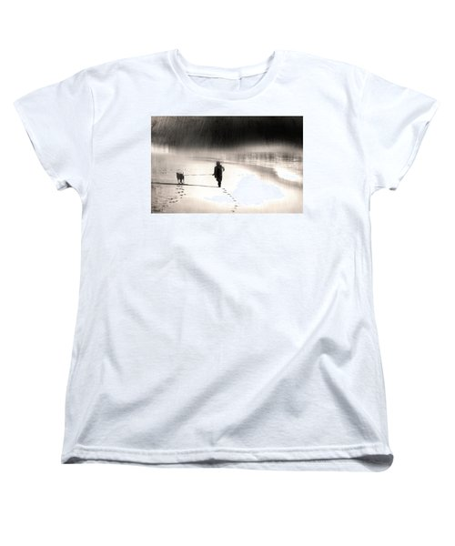 Women's T-Shirt (Standard Cut) featuring the photograph Hurry Home by Gray  Artus