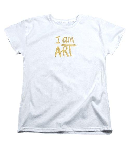 I Am Art Gold - Art By Linda Woods Women's T-Shirt (Standard Cut)
