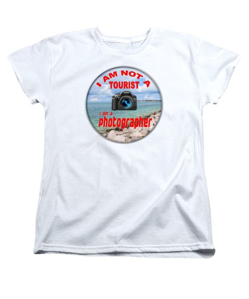 I Am Not A Tourist Women's T-Shirt (Standard Cut) by Bob Slitzan